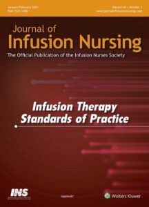 Cover image of the Journal of Infusion Nursing Infusion Therapy Standards of Practice